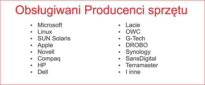 lista producentów sprzętu